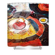 Planets Exploration Shower Curtain