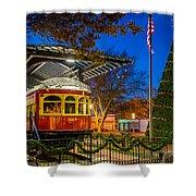 Plano Trolley Car Shower Curtain
