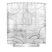 Plans Of The Principle Towers, Forts And Harbors In Ireland  Shower Curtain