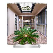 Plant Centerpiece Shower Curtain