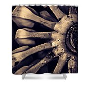 Plantains 2  Sepia Shower Curtain