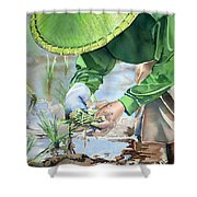 Planting The Future Shower Curtain