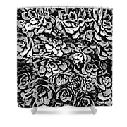 Plants Of Black And White Shower Curtain