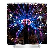 Plasma Sphere Shower Curtain
