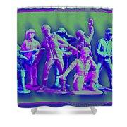 Plastic Army Man Battalion Pop Shower Curtain