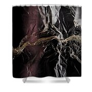 Plastic Bag 04 Shower Curtain by Grebo Gray