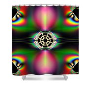 Plastic Quazar Shower Curtain