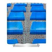 Plastic Sits Shower Curtain