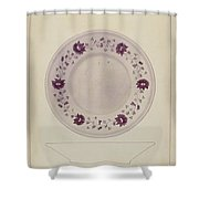 Plate Shower Curtain
