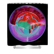 Plate State Red Shower Curtain