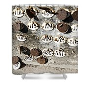 Plates With Numbers II Shower Curtain