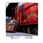 Platform Nine And Three Quarters Shower Curtain