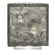 Platinum Feathers, Peacock Feathers Home Fashion Shower Curtain