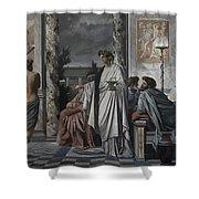 Plato's Symposium Shower Curtain