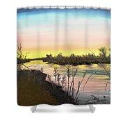 Platte River Sunrise Shower Curtain