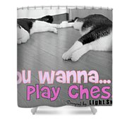 Play Chess? Shower Curtain