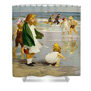 Play In The Surf Shower Curtain by Edward Henry Potthast