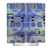Play That Rock And Roll Shower Curtain