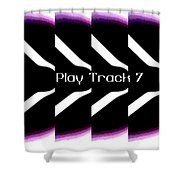 Play Track 7 Shower Curtain