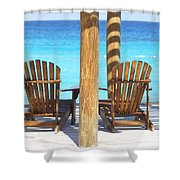 Playa Azul 2 Shower Curtain