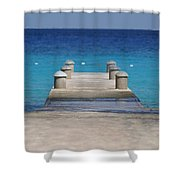 Playa Azul Dock Shower Curtain