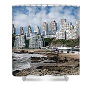 Playa Cochoa Chile Shower Curtain