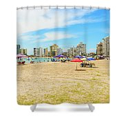 Playa De San Lorenzo In Salinas, Ecuador Shower Curtain