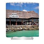 Playa Del Carmen Maritime Terminal Mexico Shower Curtain by Shawn O'Brien