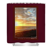 Playa Hermosa Puntarenas Costa Rica - Sunset A One Detail Two Vertical Poster Greeting Card Shower Curtain