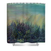 Playful Colorful Morning Shower Curtain