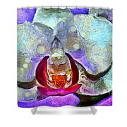 Playful Orchid Shower Curtain