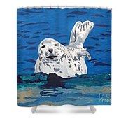 Playful Pup Shower Curtain