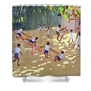 Playground Sri Lanka Shower Curtain by Andrew Macara