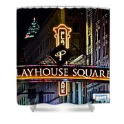 Playhouse Square Up Close Shower Curtain