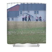 Playing Ball With Friends Shower Curtain