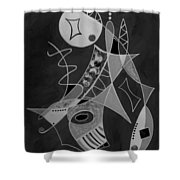 Playing Go Fish Shower Curtain
