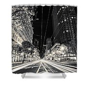 Playing In Traffic Blackout Shower Curtain
