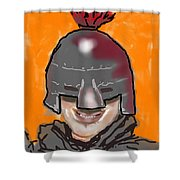 Playing Knight Shower Curtain