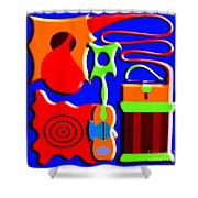 Playing Music Shower Curtain