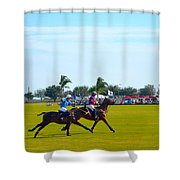 Playing Polo Shower Curtain