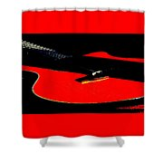 The Sigma In Red Shower Curtain