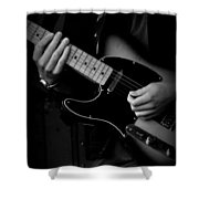 Playing Strings Shower Curtain