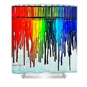 Playing With Colors Shower Curtain