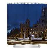 Plaza De Cibeles Madrid Spain Shower Curtain