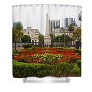 Plaza De Mayo In Buenos Aires-argentina  Shower Curtain