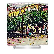 Plaza In Murcia Shower Curtain
