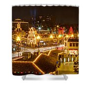 Plaza Overlook At Christmas Shower Curtain