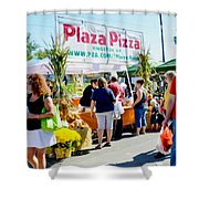 Plaza Pizza Shower Curtain