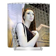 Plaza View Shower Curtain