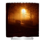 Pleasant Run Bridge Shower Curtain
